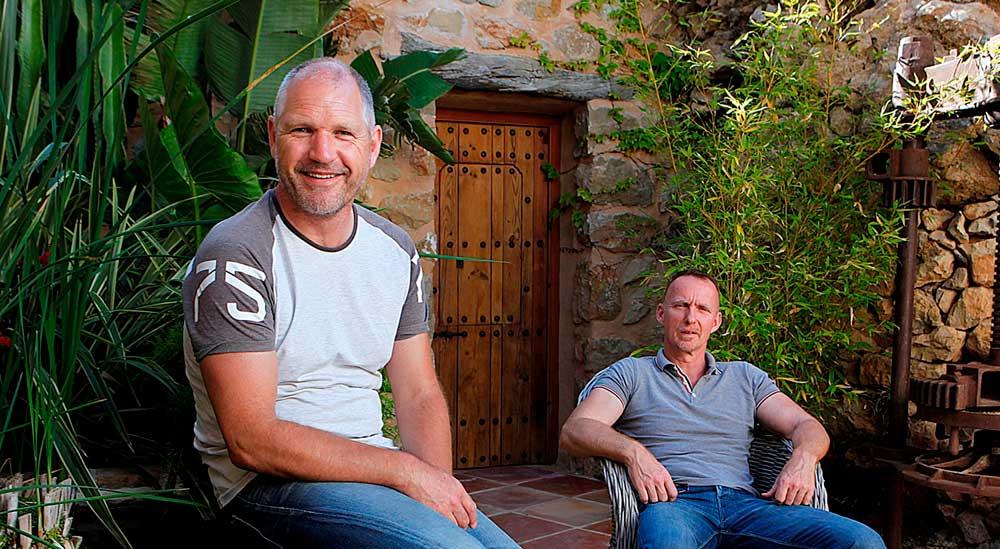 Willem Pieffer en Richard  logeren bij Nederlanders in Spanje Steenblik