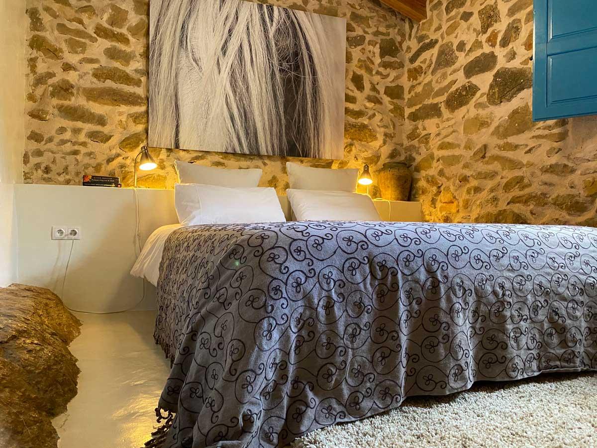 Slaapkamer natuurhuisje Spanje La Rina